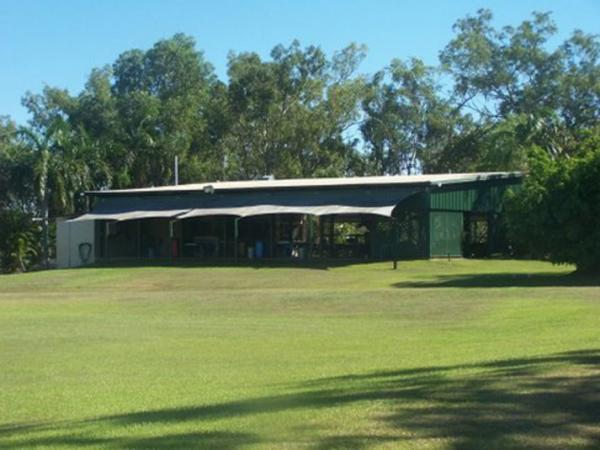 Covered outdoor area at livingstone recreation reserve