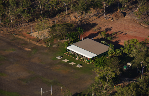 Aerial view of livingstone recreation reserve